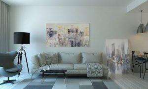 Biele obývacie steny sa hodia ku všetkému